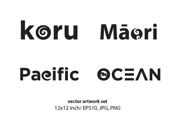 Maori - VECTOR ARTWORK SET