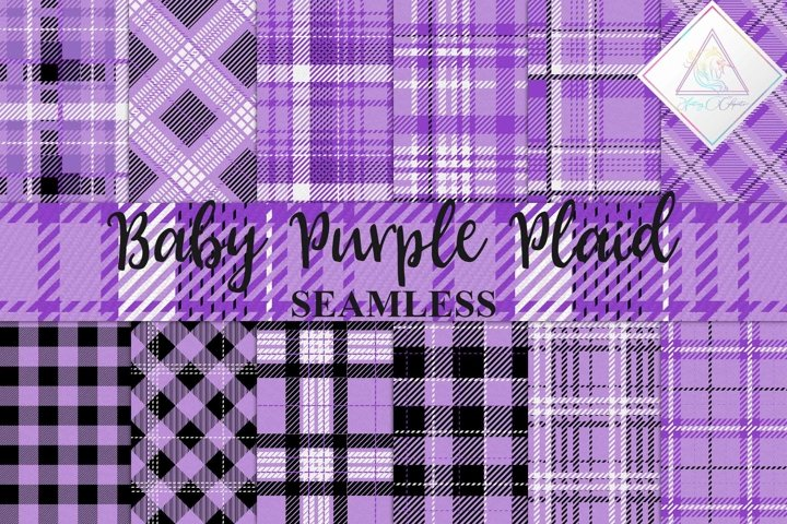 Baby Purple Plaid Digital Paper