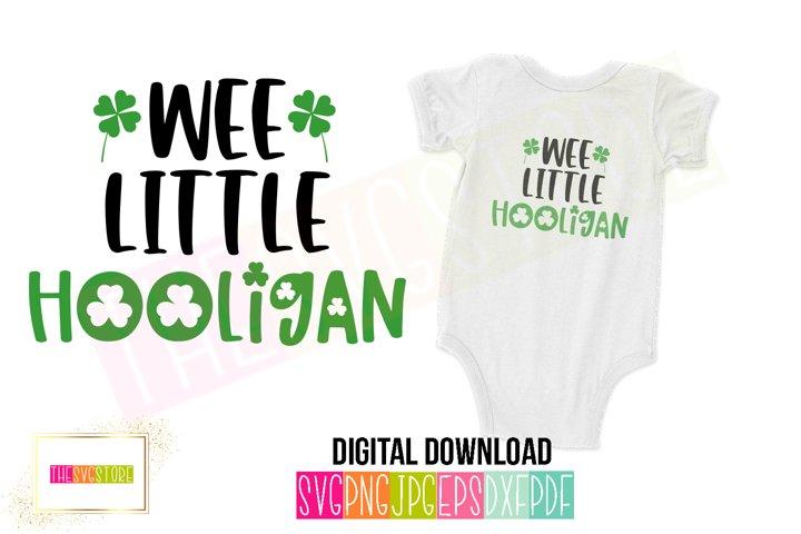 Wee Little Hooligan SVG   St. Patricks Day SVG