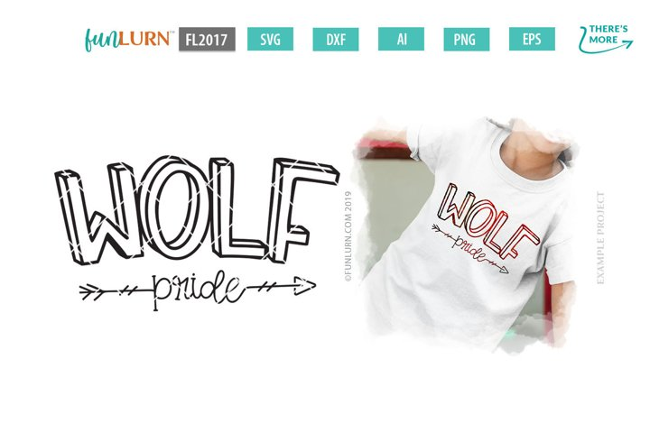 Wolf Pride Team SVG Cut File