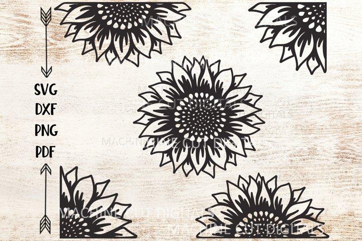 Set of Sunflowers svg dxf cut out cricut laser cut templates