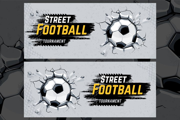 Street Football Design Template