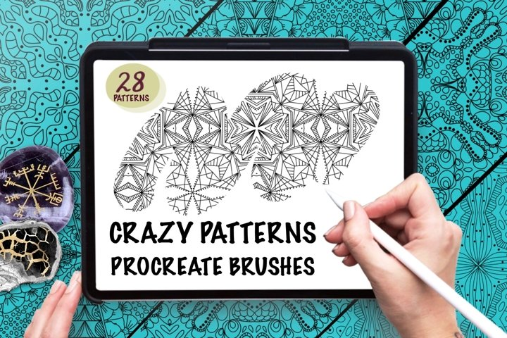 Crazy Patterns -Pattern Brushes for Procreate