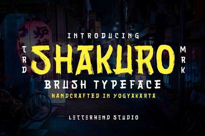 Shakuro - Brush Typeface