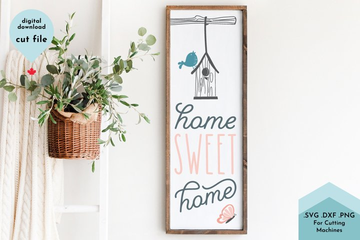 Home Sweet Home Spring Vertical Sign svg, Porch sign