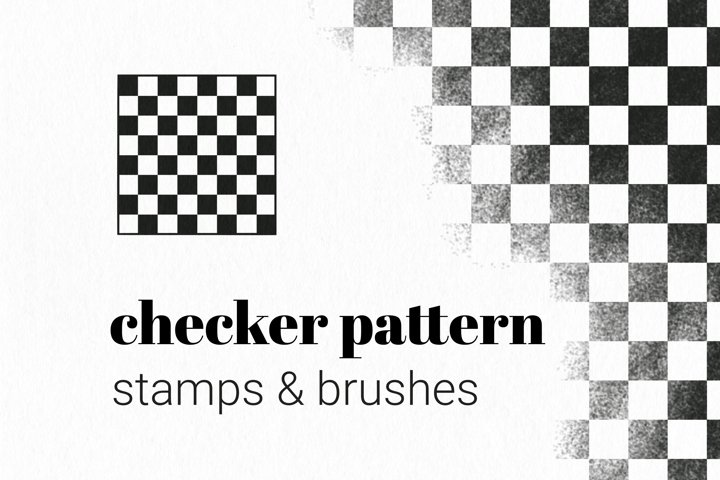 Procreate Stamps and Brushes Checker Pattern