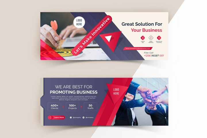 Modern Facebook Page Cover Template