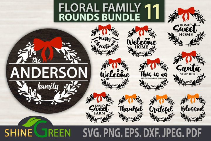 Christmas Ornament Bundle SVG, Family Monogram Bundle