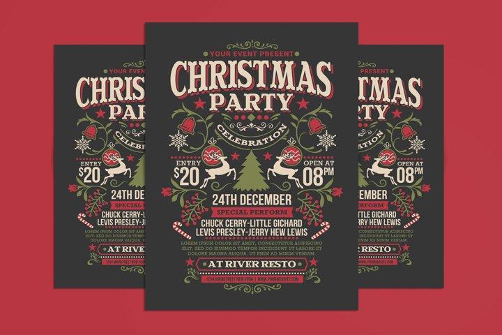 Christmas Party Celebration Flyer