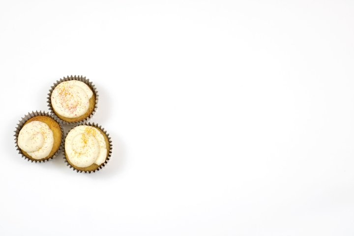 Cupcake Trio Flat Lay