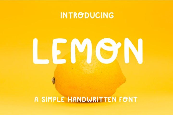 Simple playful font - Lemon