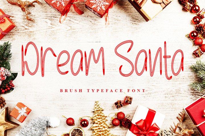 Dream Santa - Brush Typeface Font