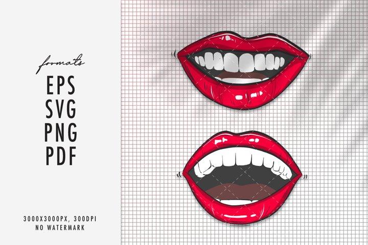 Lips SVG makeup clipart vector cricut silhouette clipart