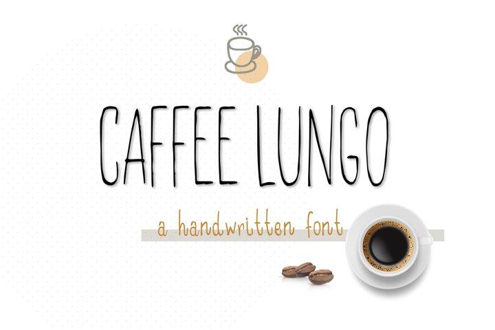 Caffee lungo handwritten font.
