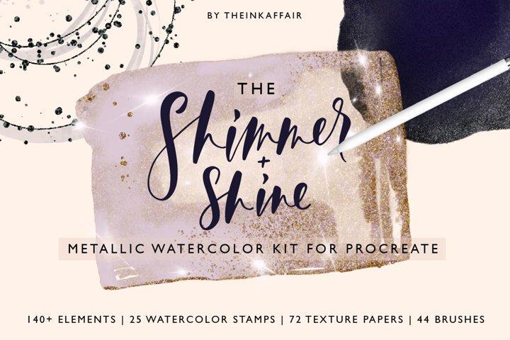 Metallic Watercolor kit for Procreate