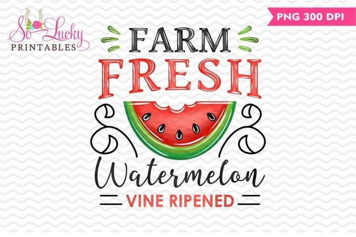 Fresh Farm Watermelon printable sublimation design