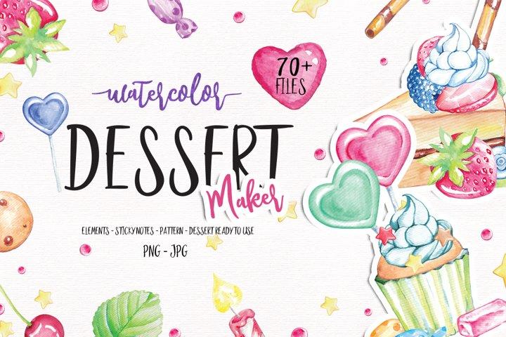 Watercolor Dessert maker