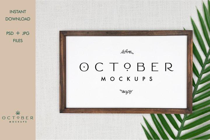 Farmhouse Sign Mockup in JPG and PSD | Poster Frame Mockup