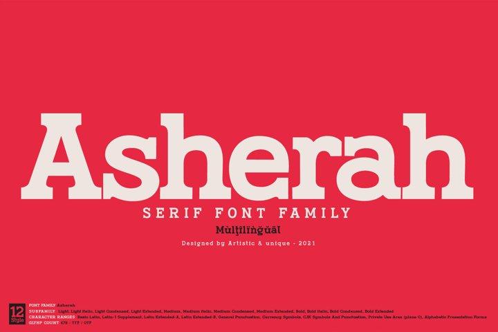 Asherah - Serif font family
