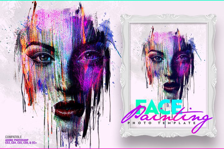 Face Painting Photo Template