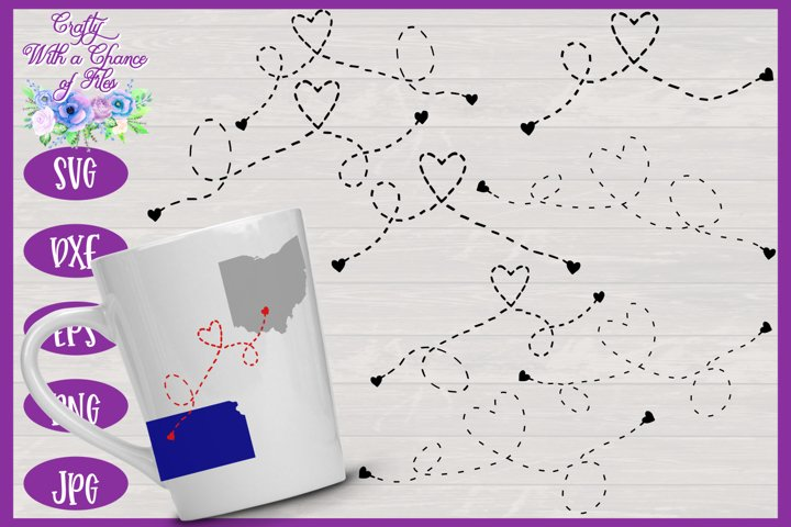 Heart Dashed Line SVG | Long Distance SVG |Friendship SVG