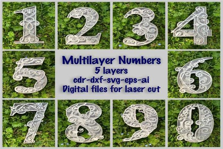 Multilayer PACK, Numbers 0-9