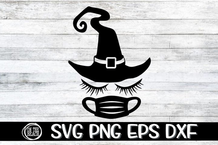 SVG - Witch - Lashes - Mask - Halloween - Hat - PNG EPS DXF