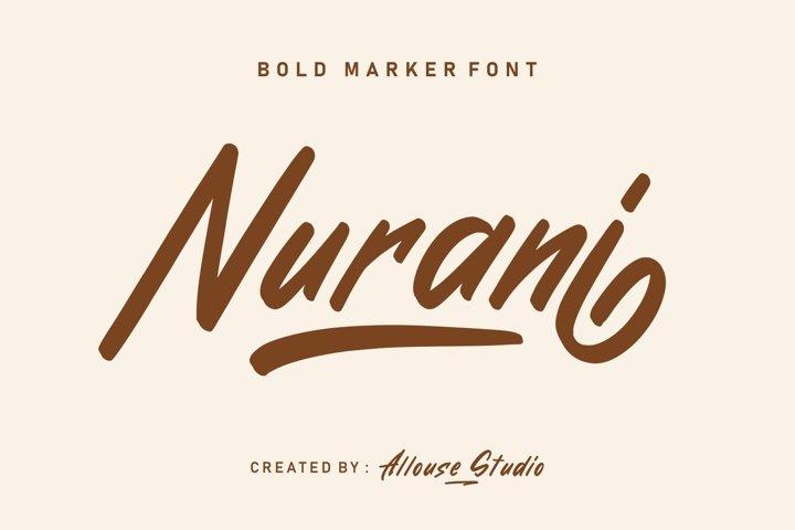 Nurani - Bold Marker Font