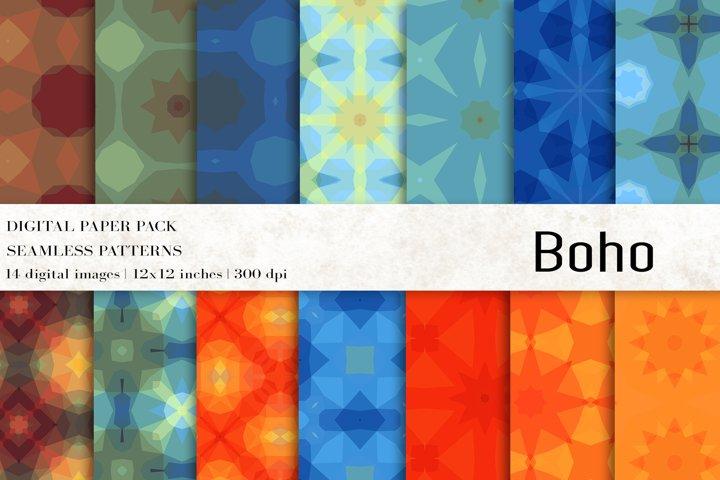 Boho Digital Papers, Boho Patterns