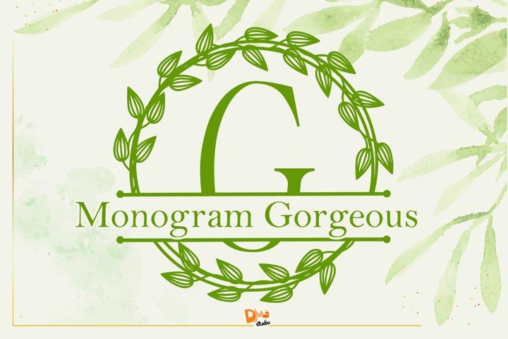 Monogram Gorgeous Font