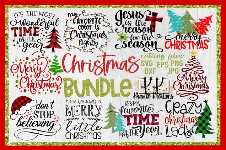 Christmas Svg Bundle, Merry Christmas Svg, Christmas Svg
