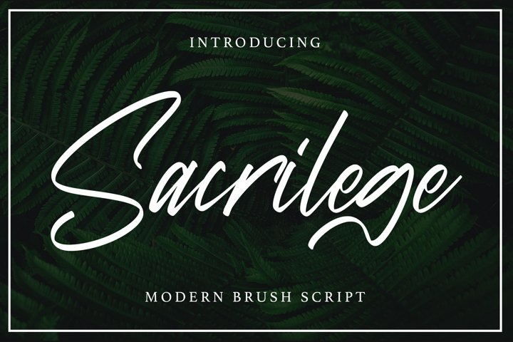 Sacrilege - Signature Fonts