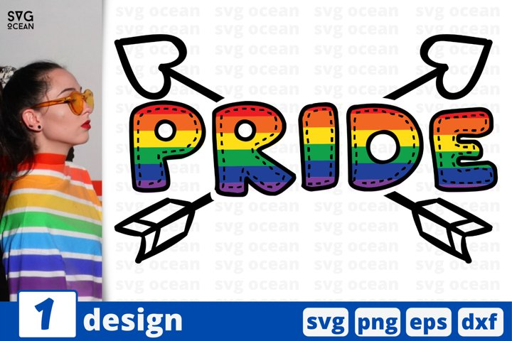 Pride SVG cut file | Rainbow heart cricut | Lesbian love