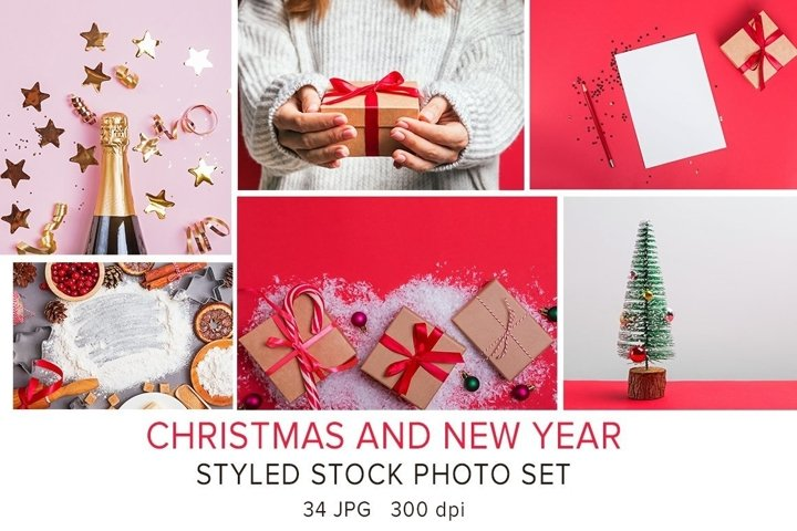 Christmas holidays. Stock photo set