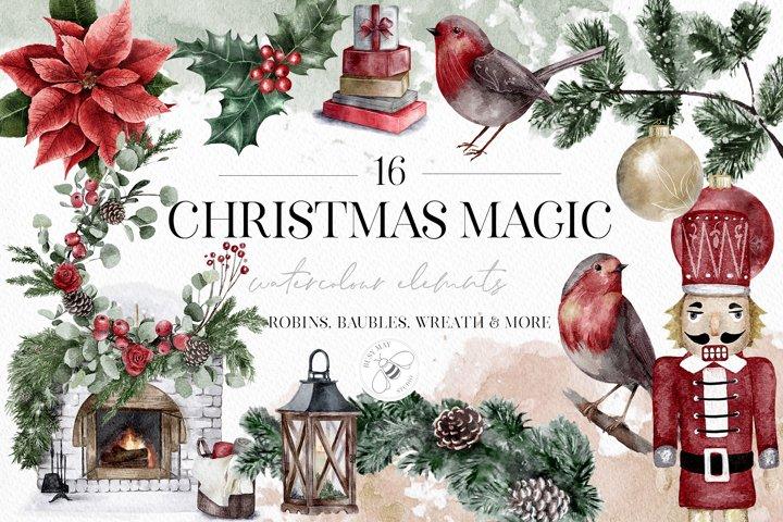 Christmas Magic Illustrations Clip art PNG Festive Tradition