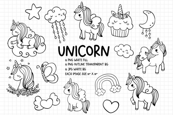 Unicorn digital stamps, Unicorn PNG