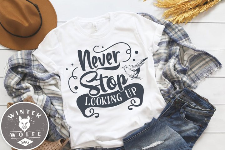 Never stop looking up SVG DXF PNG EPS