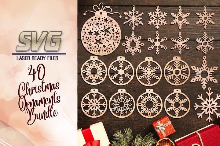 Christmas Snowflake Ornament Earring SVG Glowforge Files