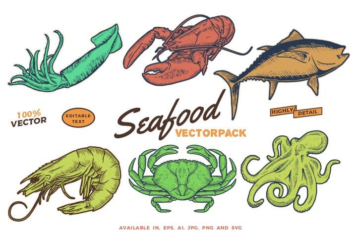 Seafood vectorpack