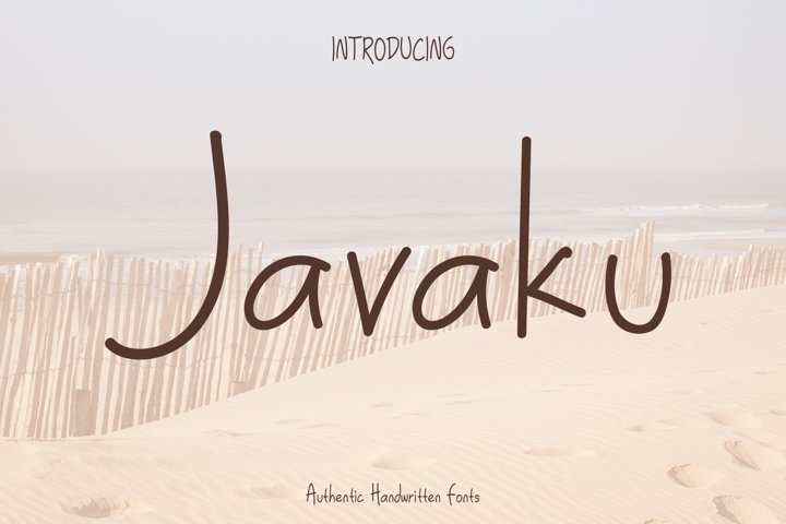 Javaku Spontaneous Handwritten Fun Typeface Fonts