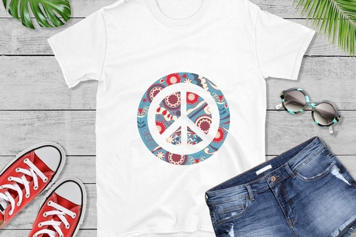 Peace sign vector and sublimation PNG file