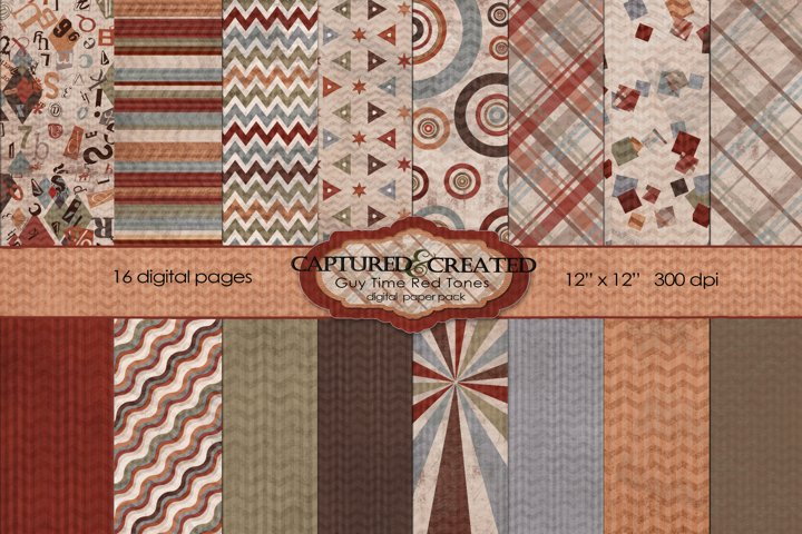 Guy Time Rust Tones Paper Pack- 16