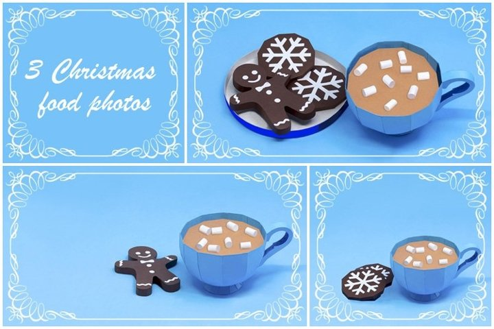 Paper cup and Christmas gingerbread