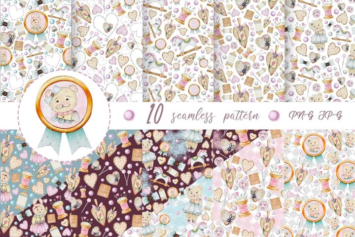 Shabby toys patterns set