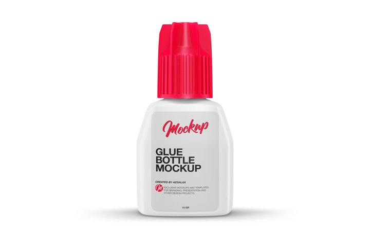 Glue for Eyelash Extensions, Bottle Mockup.