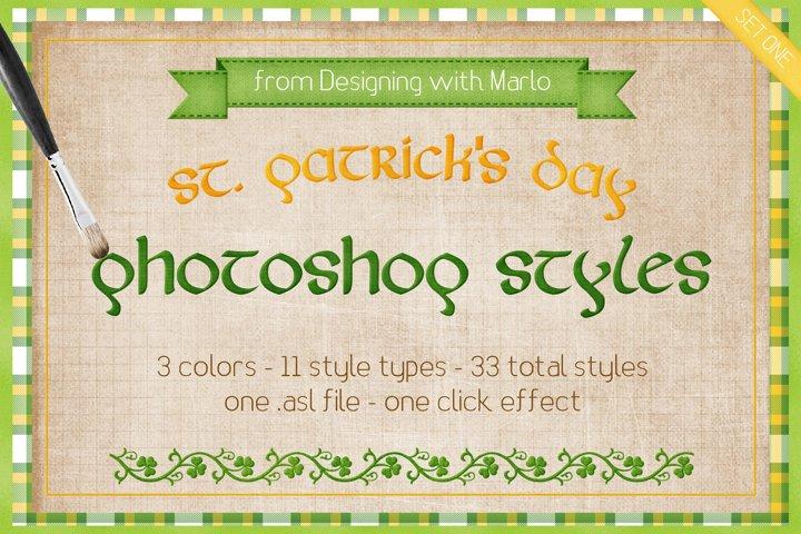 St. Patricks Day - Layered Photoshop Styles