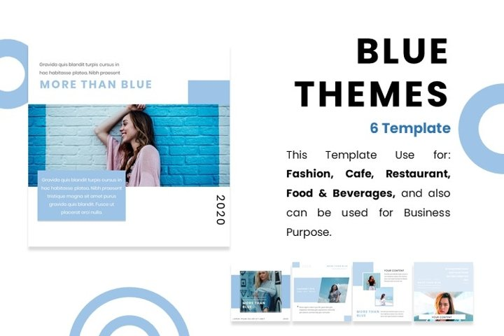 Instagram Feed Template - BLUE COLOR