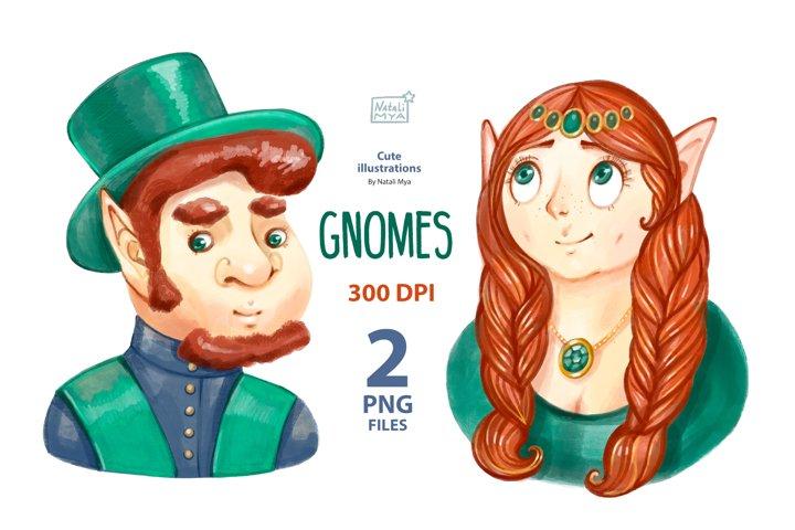 Gnomes couple clipart