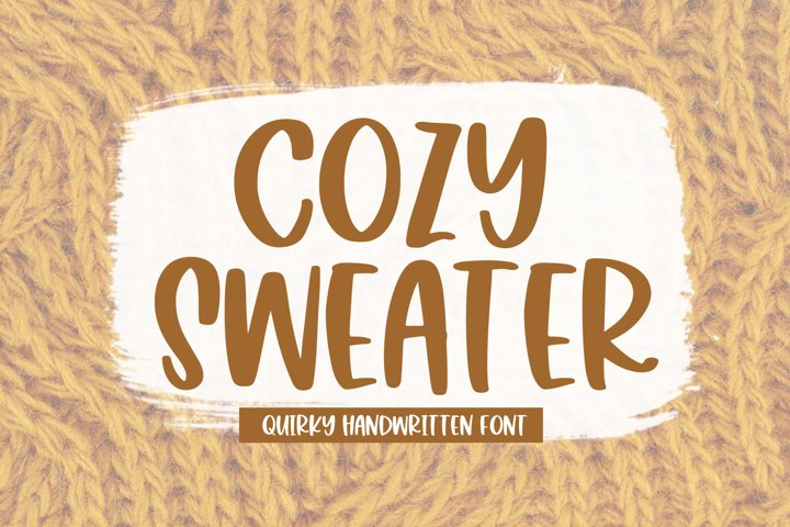 Cozy Sweater - A Quirky Handwritten Font