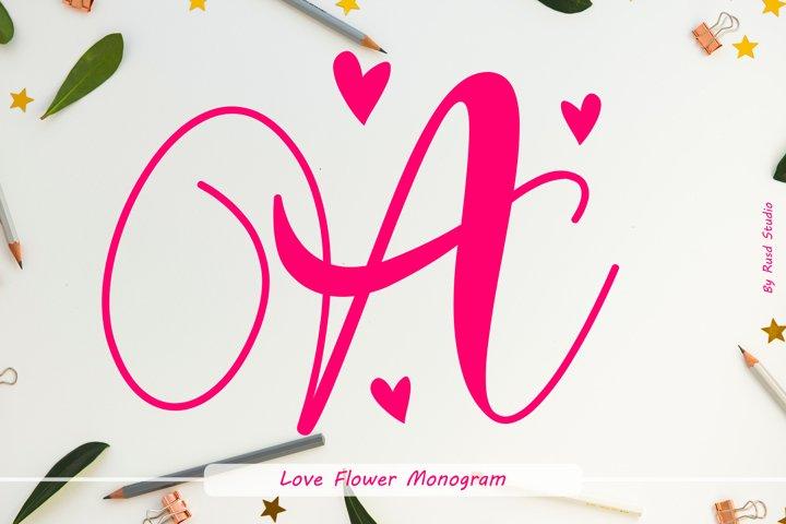 Love Flower Monogram